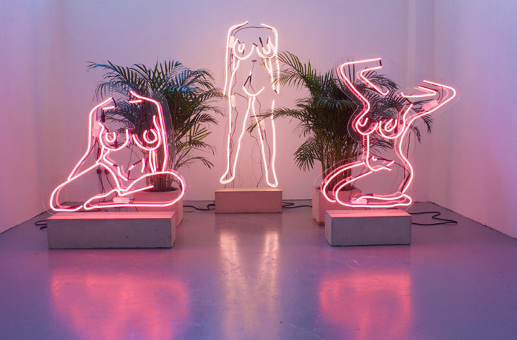 Romily Alice, Walden (uk/ber) feminism in the internet age neon nudes 25 May - 20 June artist talk on Gender, intersectionality and change